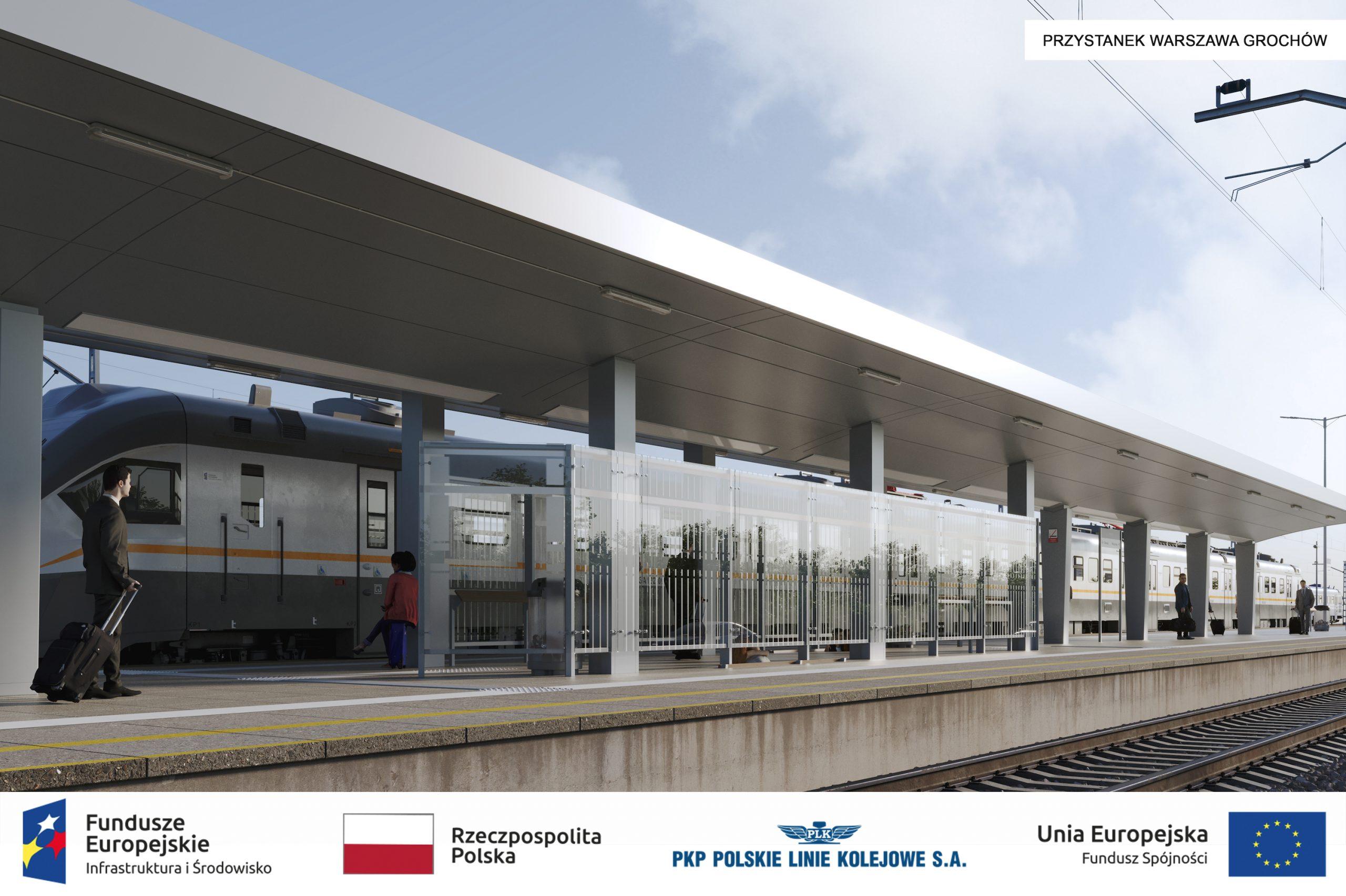 peron Warszawa Grochow wizualizacja stacji