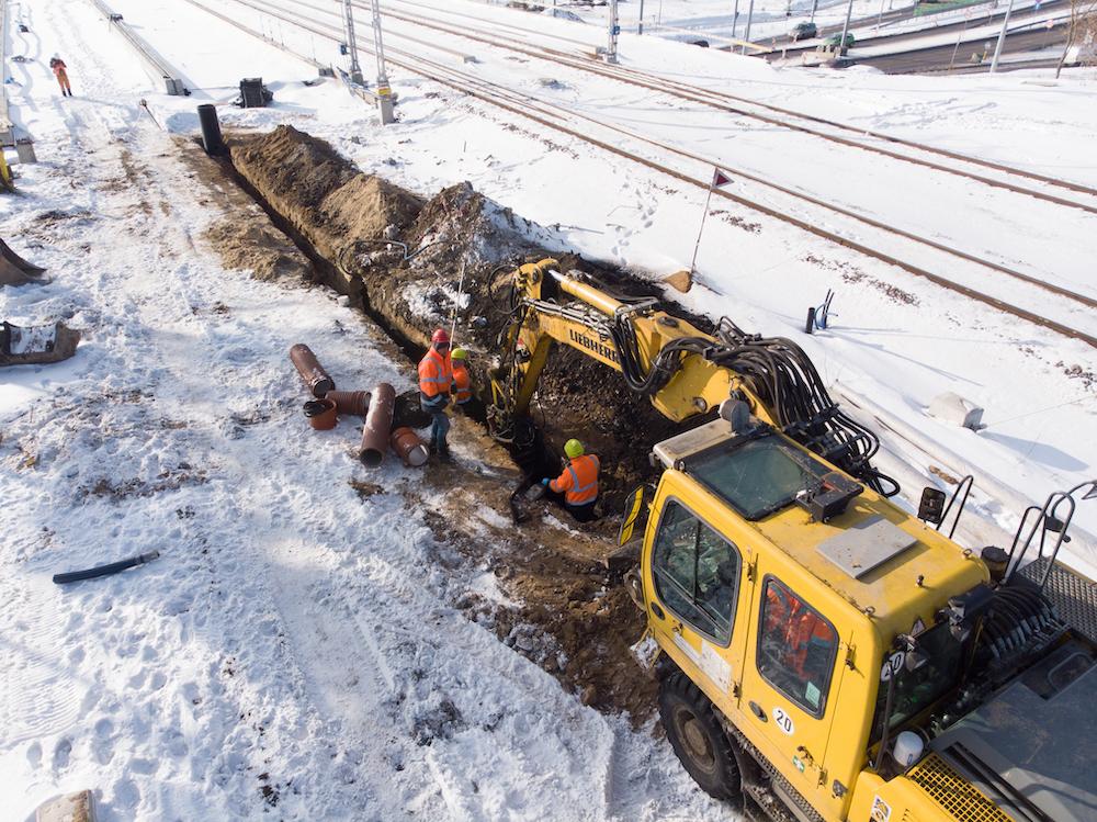 Budowa wiaduktu w Lublinie - maszyna